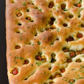 Wild Cherry Tomato Focaccia and My Happy Place