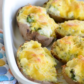 Broccoli Stuffed Twice Baked Potatoes