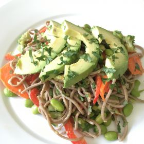 Soba Noodle Salad with Creamy Peanut Dressing