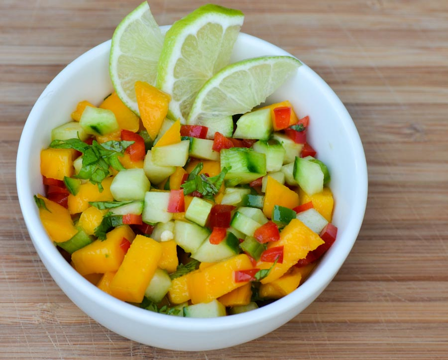 Mango Salsa with Cucumbers