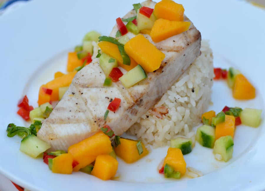 Fresh Island Fish with Mango Salsa