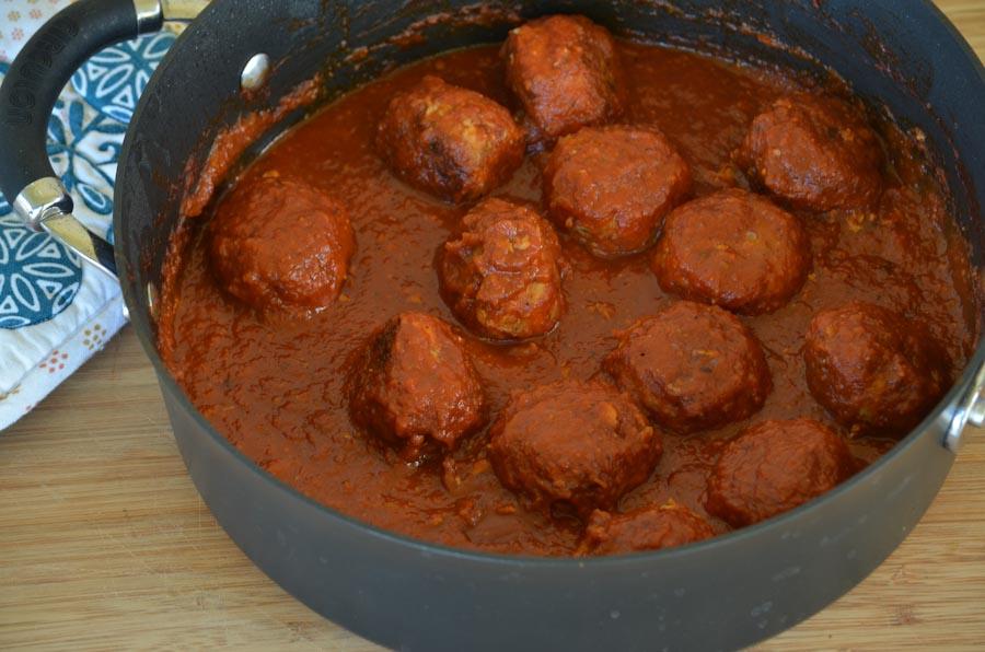 Turkey Meatballs in Marinara