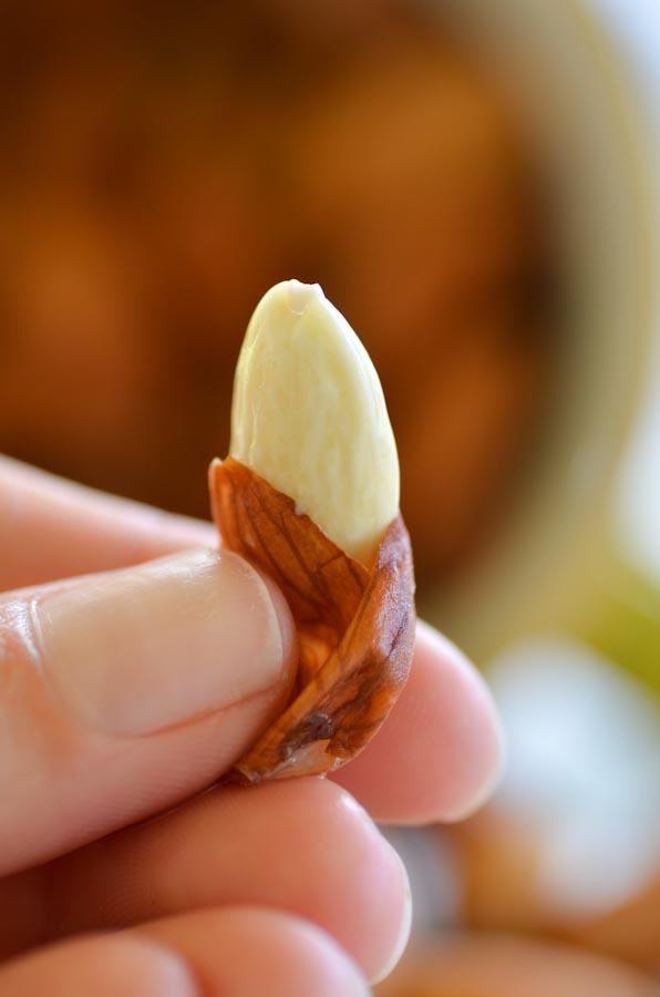 How to peel an almond