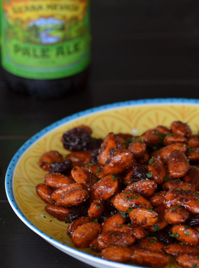 Balsamic Honey Roasted Almonds and Beer