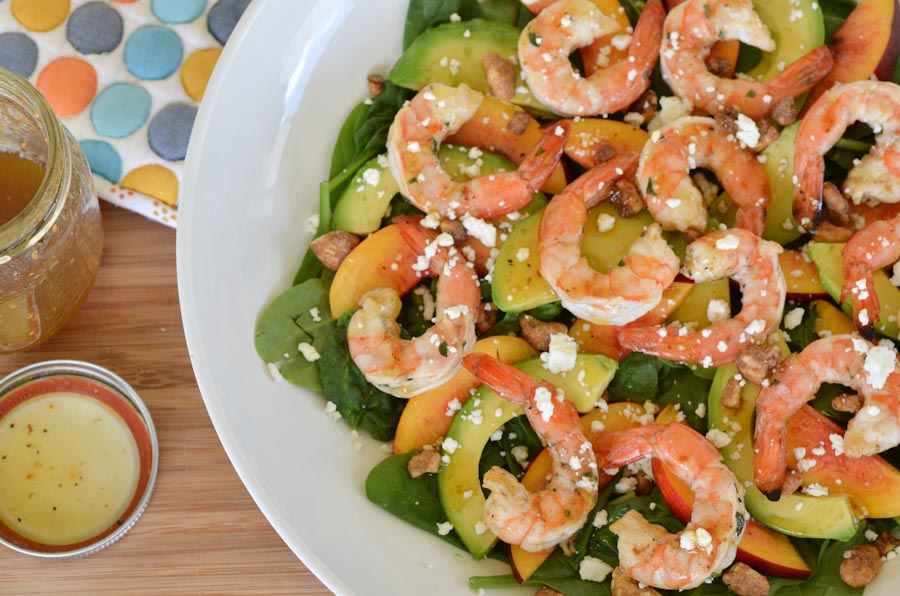 Grilled Shrimp and Nectarine Salad